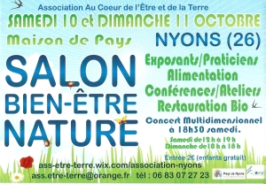 Participation au salon Nature Bien Etre Nyons